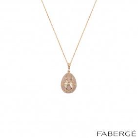 Faberge Rose Gold Palais Tsarskoye Selo Rose Locket Charm